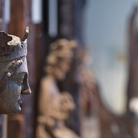 The Medieval Gallery has a uniquely rich selection of stave church portals and religious artefac