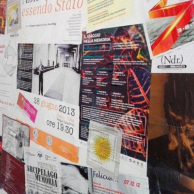 Il muro delle locandine, racconta un po' delle attività dell'associazione