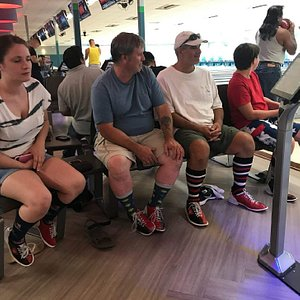 Bowling with family
