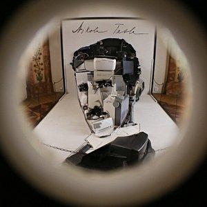 Tesla anamorph through the viewing lens