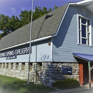 Once an historical buffalo barn now 30 years later a fine art gallery and gift shop