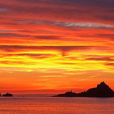 Fabulous sunset on one of our tours during summer 2018