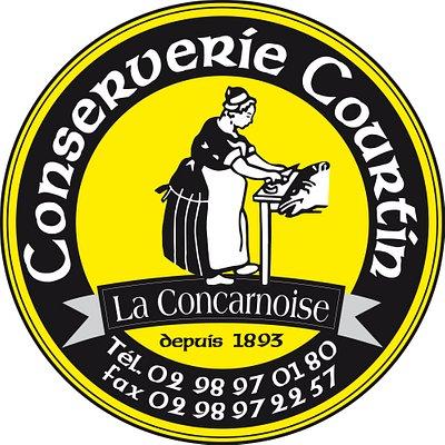 Logo de la Conserverie Courtin  - La Concarnoise à Trégunc Pays de Concarneau Finistère Bretagne