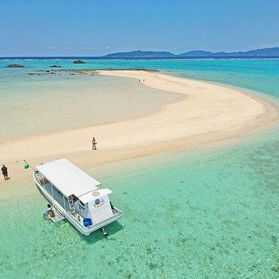 @幻の島 訪れる時で島の形が異なるのが特徴!今日はどんな形かな!?