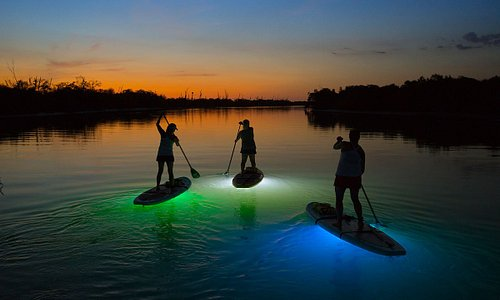 NIghtime Stand-up Paddleboarding
