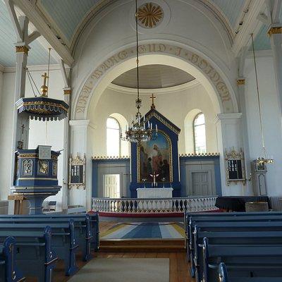 Altaret i Vederslövs nya kyrka i Vederslöv