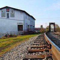 Exterior of Railroad Museum.