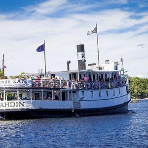 Enjoying the 100th birthday cruise.