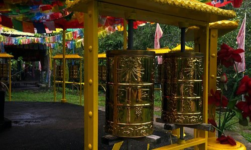 tw of the impressive prayer wheels