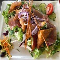 Pâtes aux cèpes et salade de chèvre chaud 👍🏼