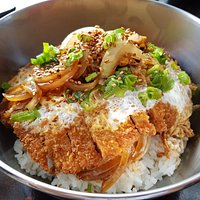 Katsudon, our take on the popular Japanese dish.