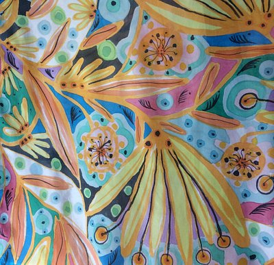 silk scarf handpainted emporion d'artes corfu 2018