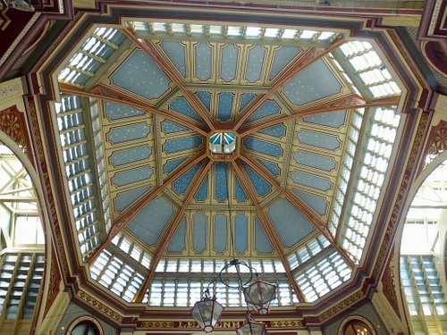 One of the lovely ornate ceilings