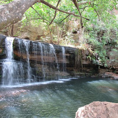 Part of the beautiful Tanougou Falls in Northern Benin, join us for a dip during our Benin Tours