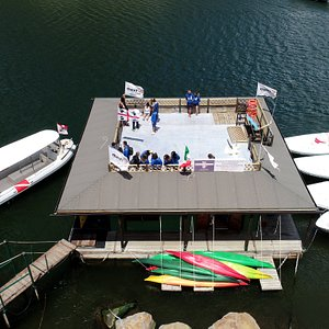 La sede galleggiante del Bosa Diving Center a Bosa Marina -The floating headquarters of the Bosa
