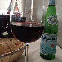A great Pinot, bread and some fine caponata