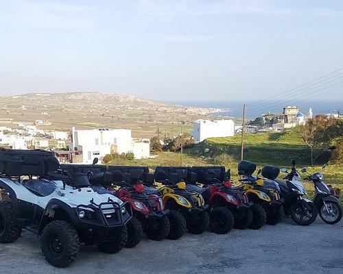 Ellinik Motor Rental Santorini Akrotiri Best choice for ATV or Scooter