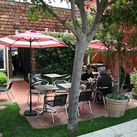 Nice patio by the alley