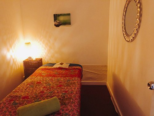 Interior of massage salon