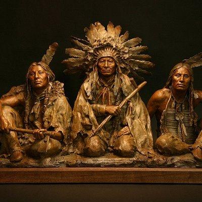 John Coleman (American, 1949-). 1876, Gall-Sitting Bull-Crazy Horse, 2008, Bronze (5/9).
