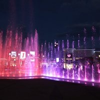 NIghtly fountain show in Victory Circle