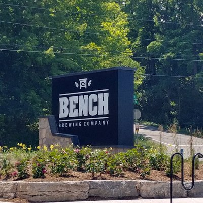 Big Sign on the Road for BENCH Brewing