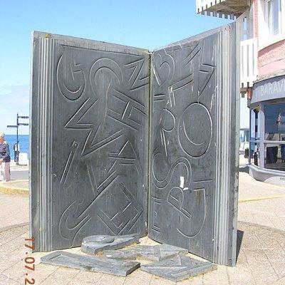 The Book Sculpture - Aberystwyth