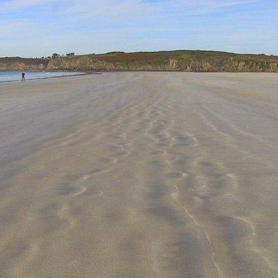 Con la marea bassa sembra infinita ...