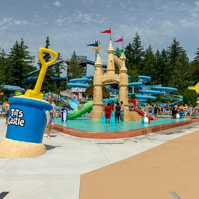 The newly improved Tots Castle is the perfect place for little ones to get acquainted with water