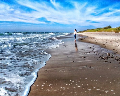 Wide sand beaches on Curonian spit