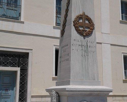 Sacred Squadron Memorial in Hermoupolis