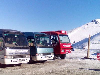 Snowman Shuttles at Mt Hutt Ski Area