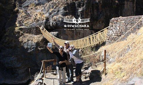 Los mejores selfies son en Qeswachaka