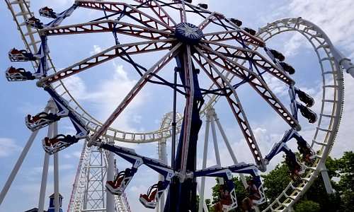 The Endeavour, squeezed into the Boomerang, is one of the newer rides at Trimper's.