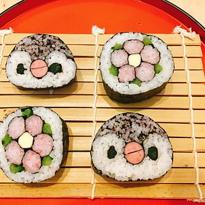 You make two kinds of sushi.