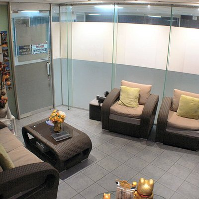 Our waiting and foot massage area