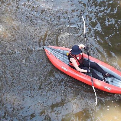 Le kayak gonflable s'est  très bien adapté à la Varenne ce beau jour de juillet