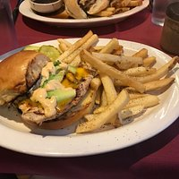Spicy Turkey Burger with fries