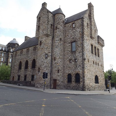 The museum building, design based on Scottish medieval baronial architecture