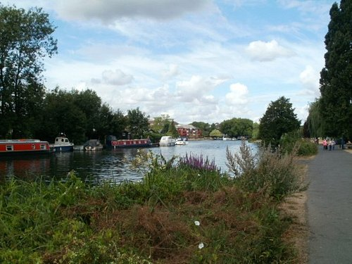 The view of the Thames from Christchurch Meadows.