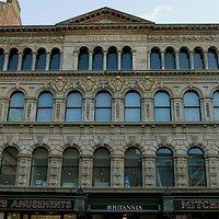 Facade of the Britannia Panopticon Music Hall.