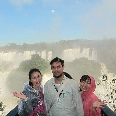 Visitors from JAPAN at the Brazilian side of Iguassu Falls