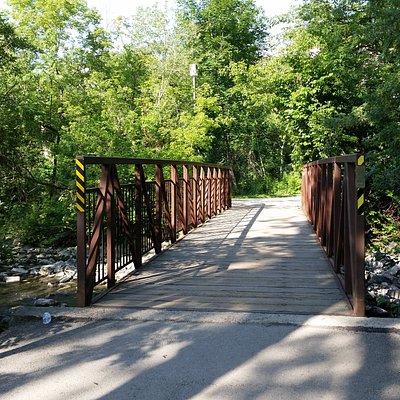 Mississauga Valley Park pedestrian bridge