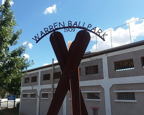 Historical Warren Ballpark built in 1909 for the miners & their families.