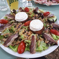 Assiette salade Cabeccou/magret