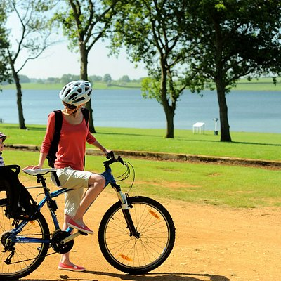 Family cycle hire at Pitsford Water