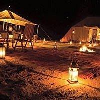 Nomadic camp in Morocco Sahara desert