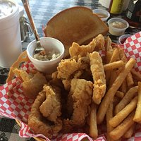 Walleye basket. Yummy!