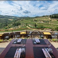 outdoor seating with a view