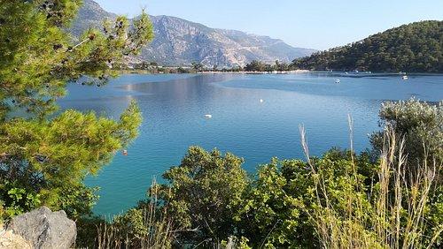 Oludeniz, le lagon, photo de l'intérieur du lagon, l'eau est transparente, très clair